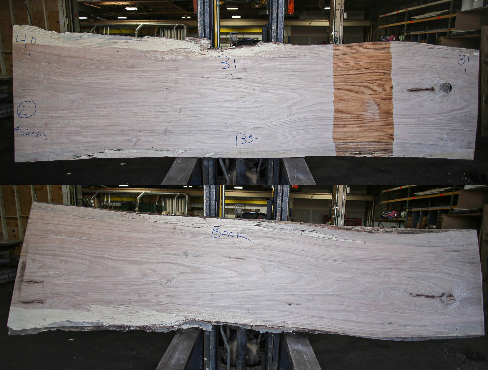 Red Oak Live Edge Slab 507813