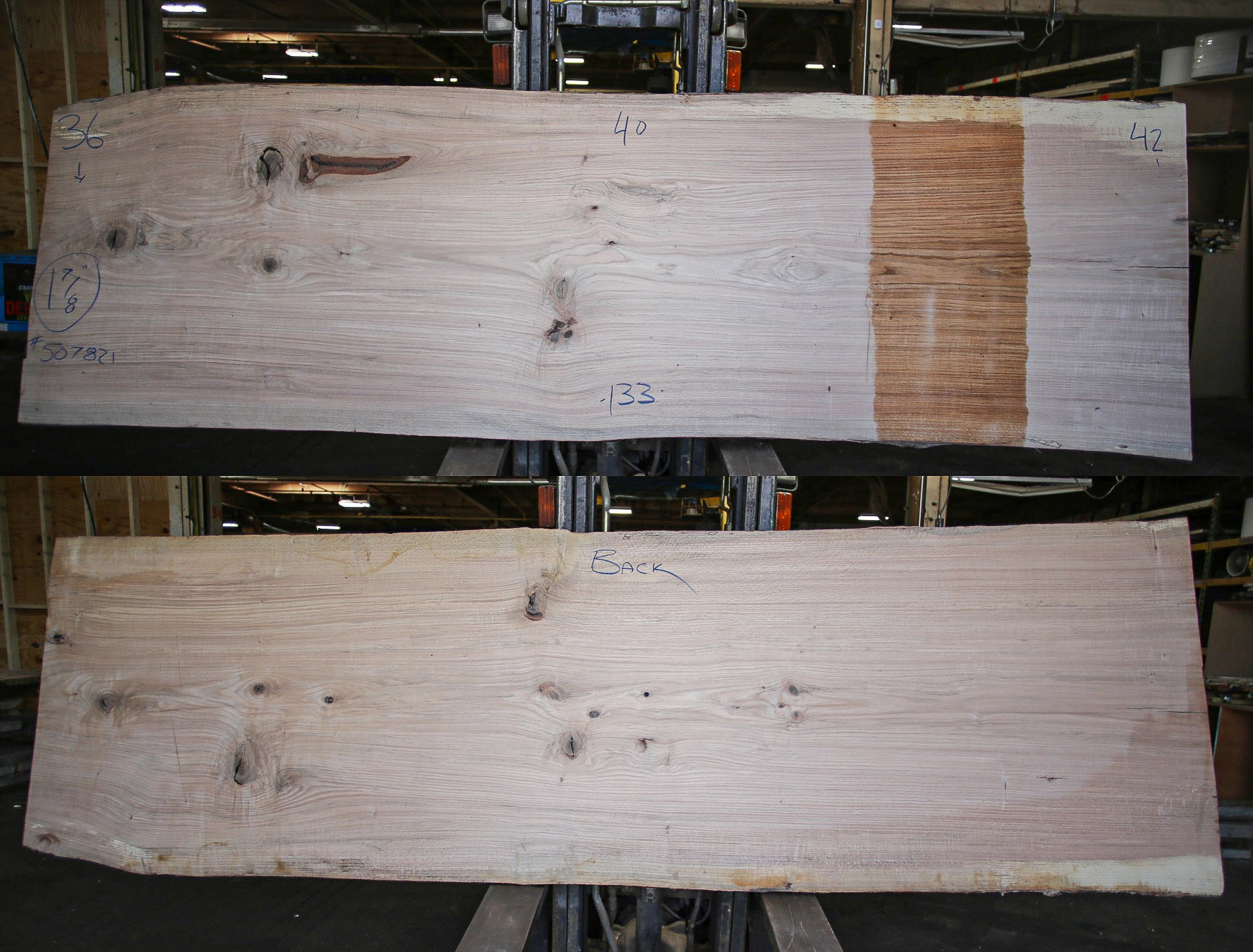 Red Oak Live Edge Slab 507821
