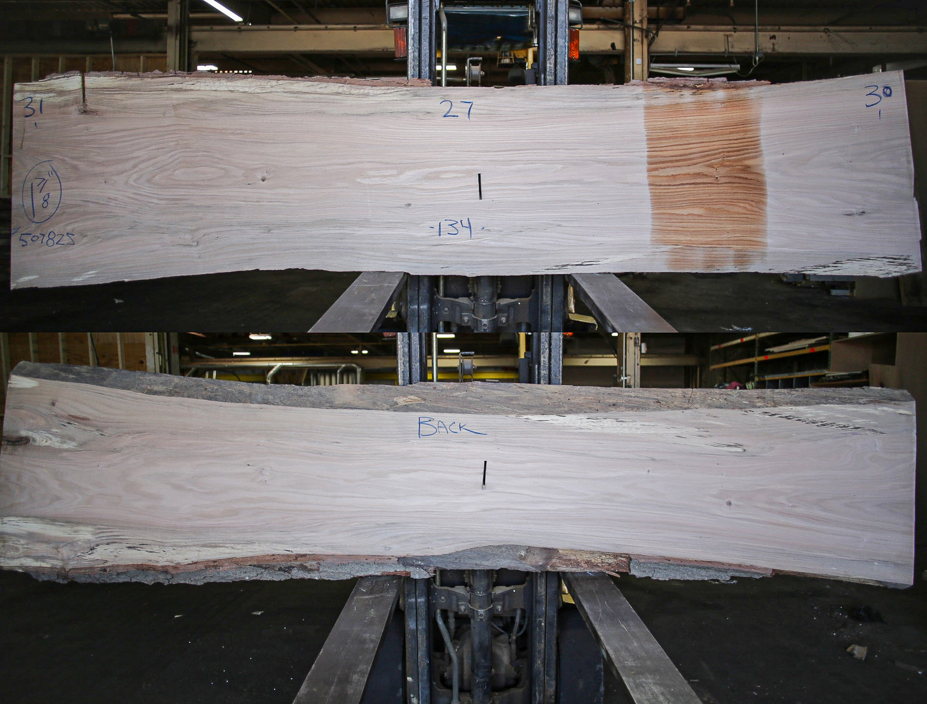 Red Oak Live Edge Slab 507825
