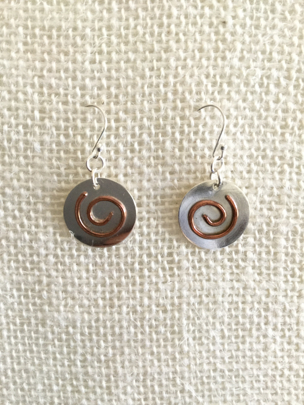 Disc/Swirl earrings