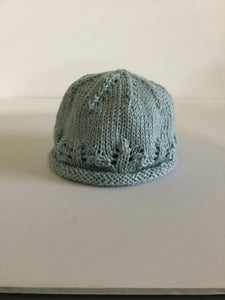 Infant hat/cotton/light blue