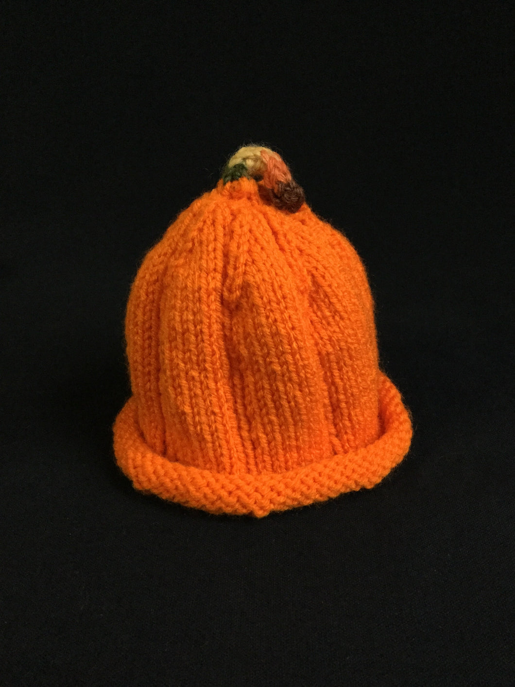 Knitted Infant Hat (pumpkin)