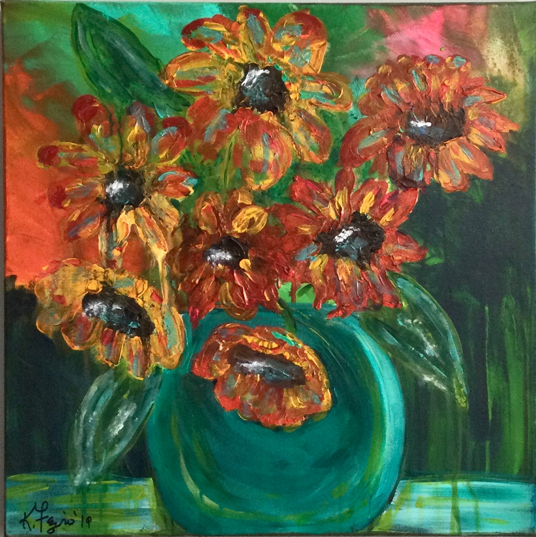 Sunsational Sunflowers Painting