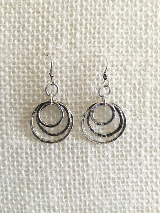 3 Circles nested earrings