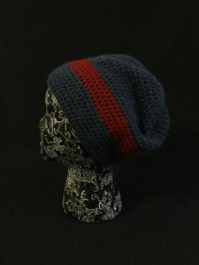 Adult hat - blue/red stripe