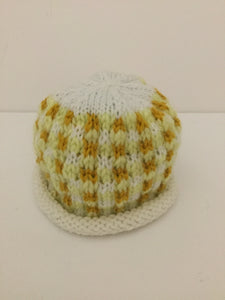 Newborn hat-yellow gingham