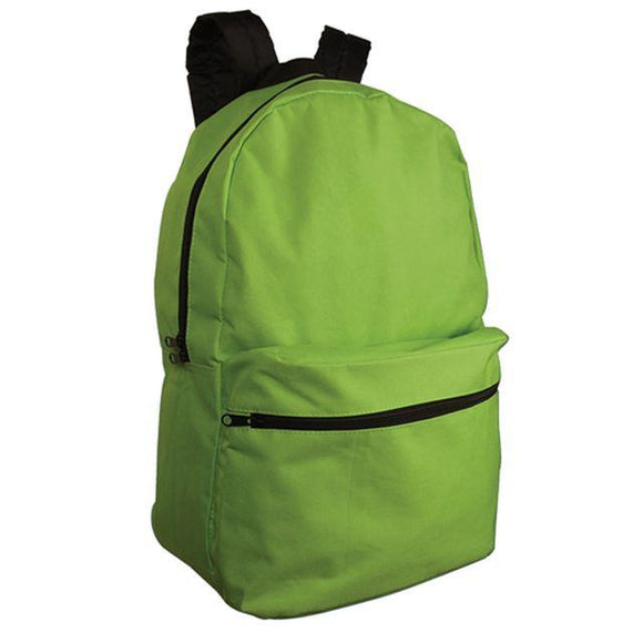 BB006 - Standard Backpack with 600D polyester with zippered front pouch and printed 1 colour