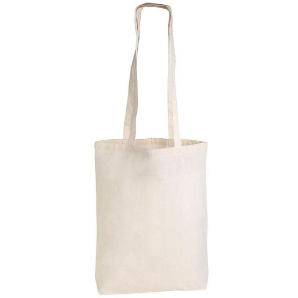 BB008 - Long Handled Coured Cotton Tote 375x420 with a 1 colour print in 1 position