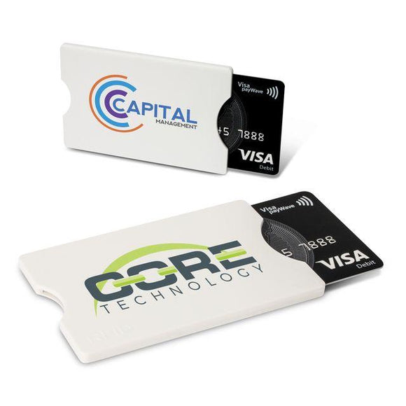 BB026 - RFID card Protector in white with a full colour print in 1 position