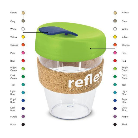 BB038 - Clear Reusable Coffee Cup with Cork Band
