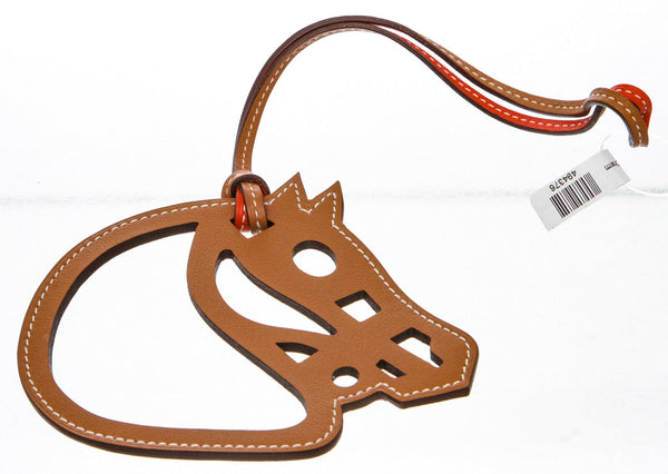 Hermes Natural Sable and Orange Poppy Paddock Cheval Charm