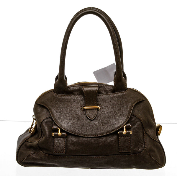 Chloe Brown Leather 'Georgia' Dome Bag