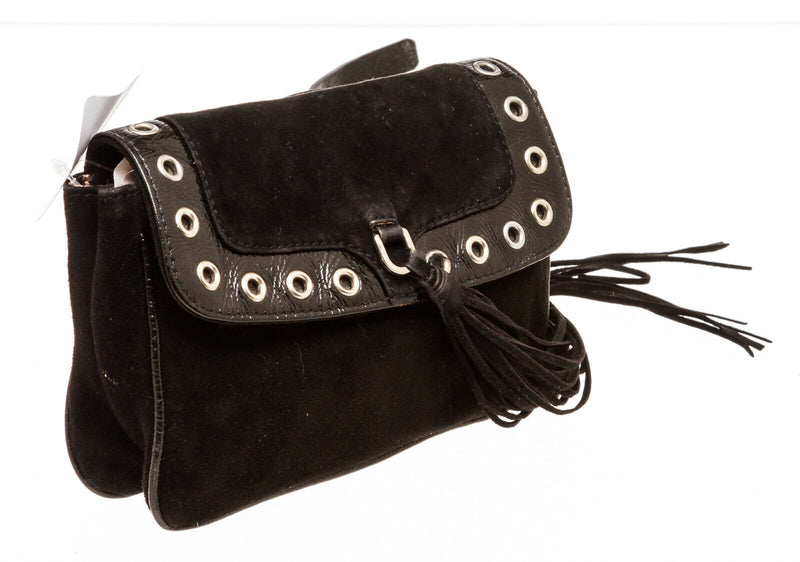 Dolce & Gabbana Black Suede Fanny Pack