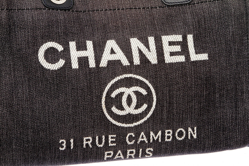 Chanel Denim Blue Canvas Deauville Tote Bag