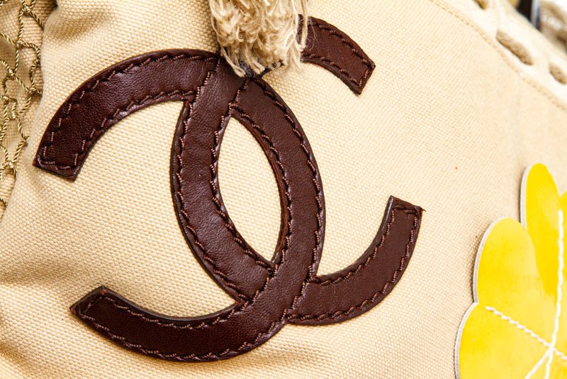 Chanel Beige Canvas Cruise Rope Cabas Bag