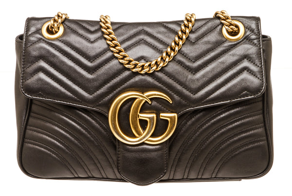 Gucci Black Marmont Matelasse Bag