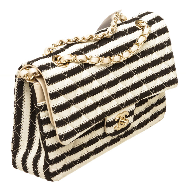 Chanel Classic Black & White Flap Bag