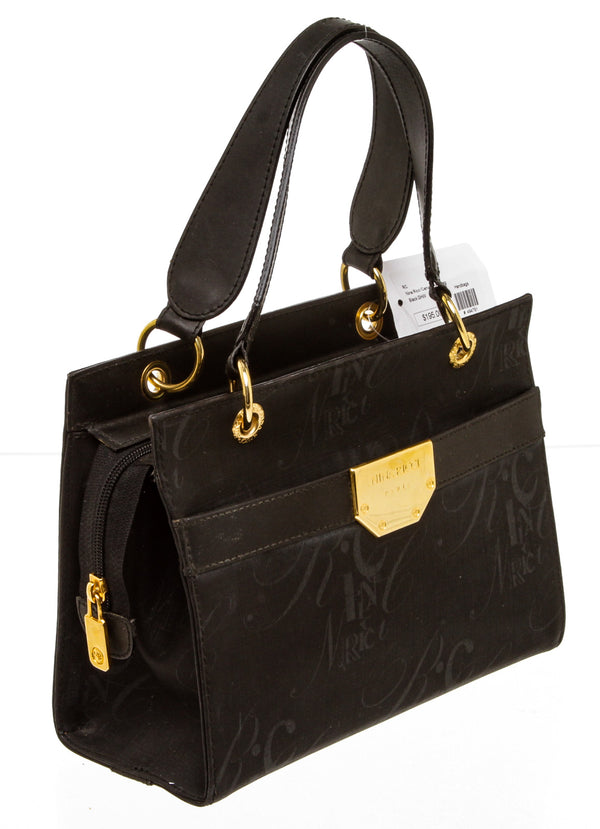 Nina Ricci Black Monogram Coated Canvas Handbag