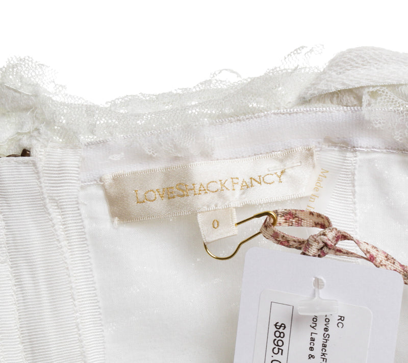 LoveShackFancy Irene Gown (Size 0)