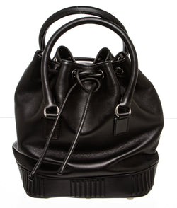 Belstaff Black Leather Bucket Bag