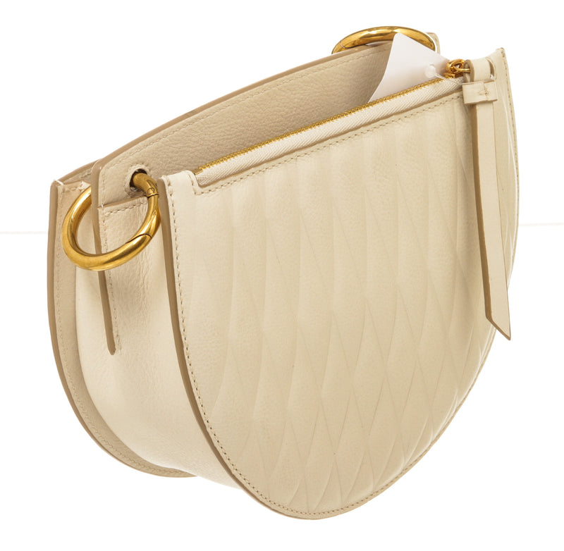Bally Cecyle Cream and Gold Hardware Crossbody