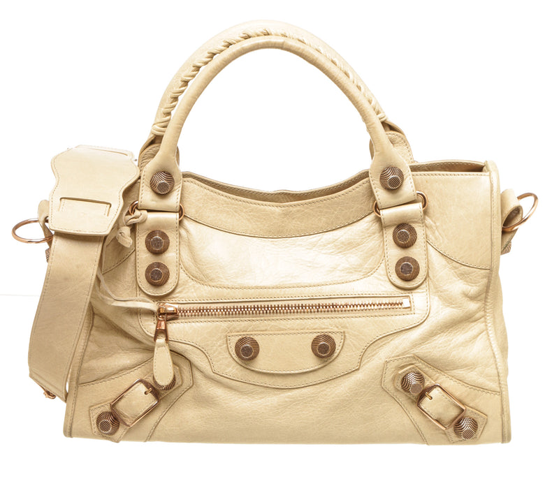 Balenciaga Praline Giant City 21 Rose Gold Hardware Bag