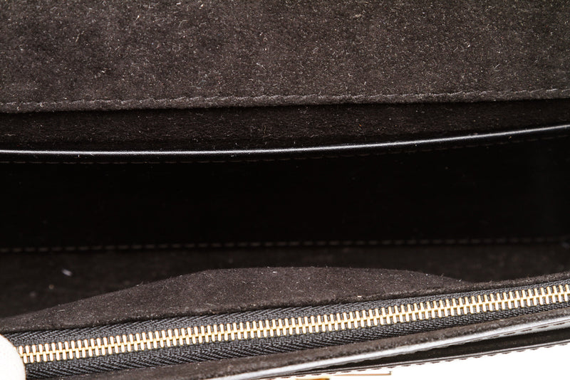 Louise Vuitton Black Patent Leather Louise Handbag