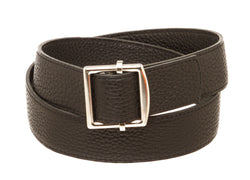 Hermes Black Leather Cape Cod Belt 80