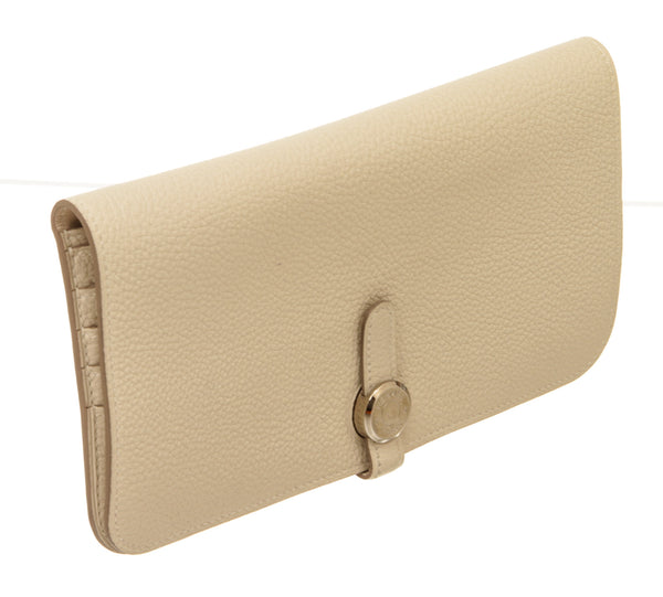 Hermes Dogon Cream or Crae Recto Verso Wallet