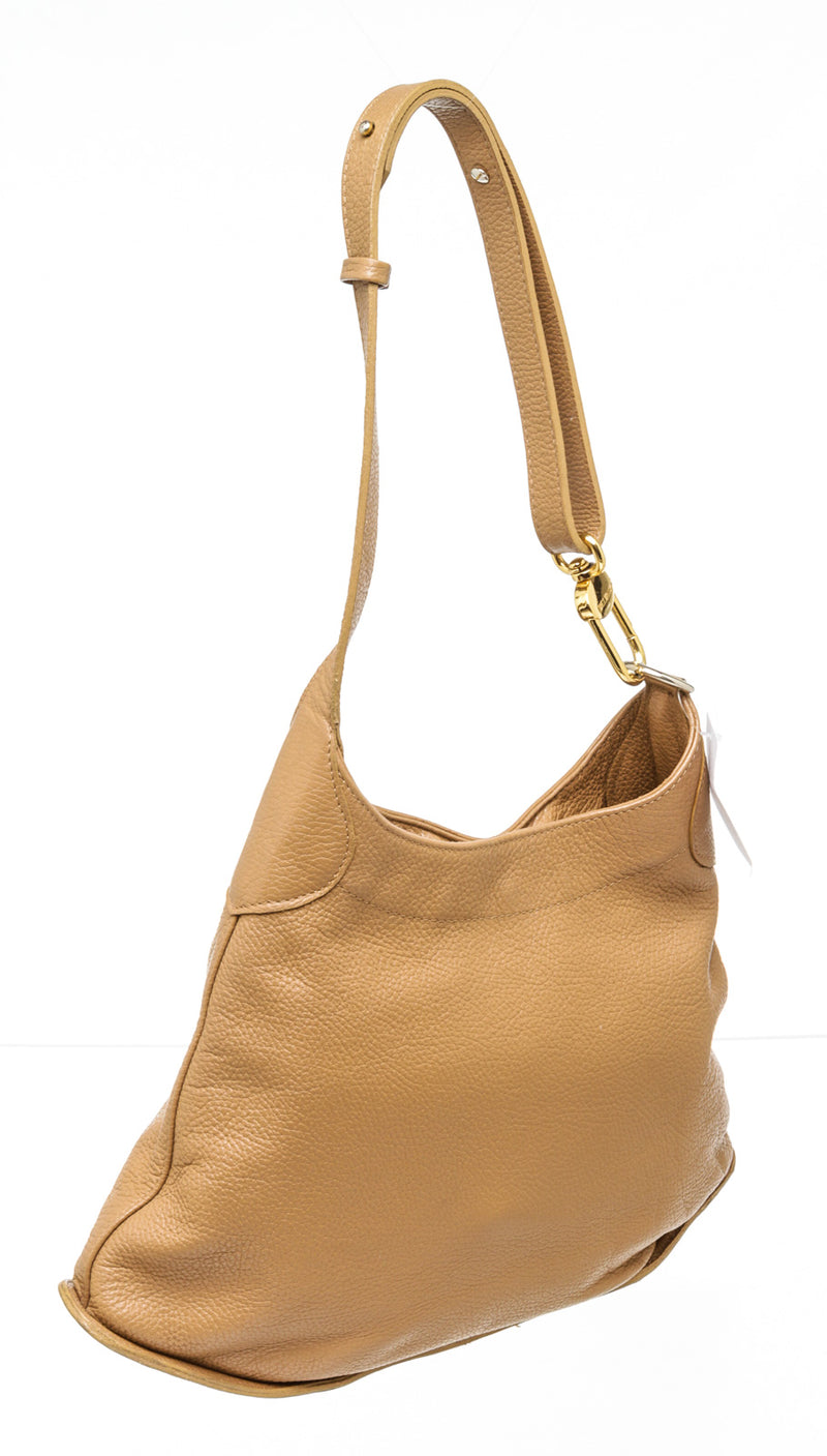 Delvaux Tan Leather Hobo Bag