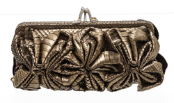 Christian Louboutin Bronze Loubi Lula Watersnake Clutch Bag