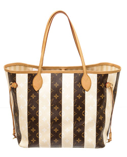 Louis Vuitton Monogram Rayures Neverfull MM