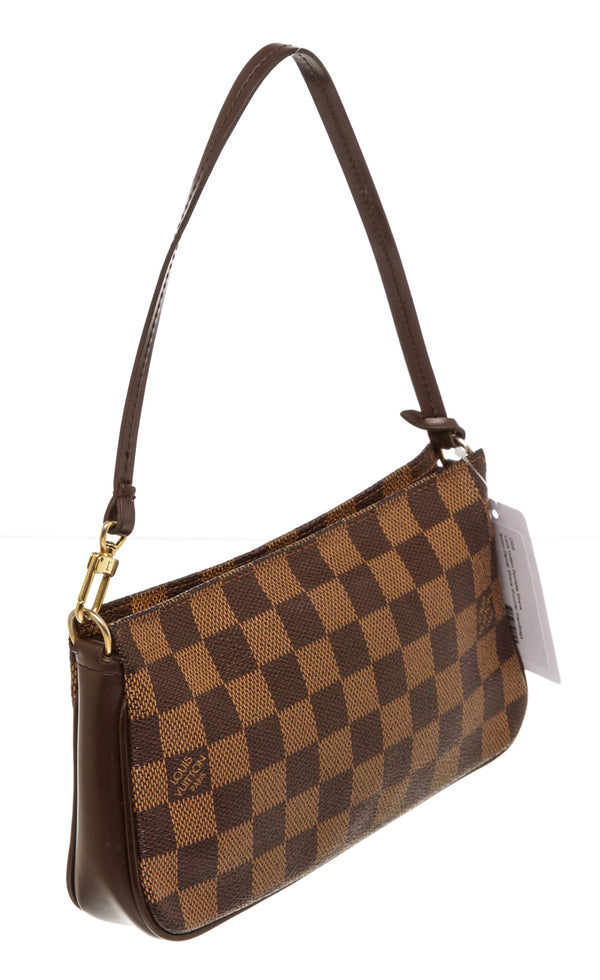 Louis Vuitton Brown Ebene Damier Pochette