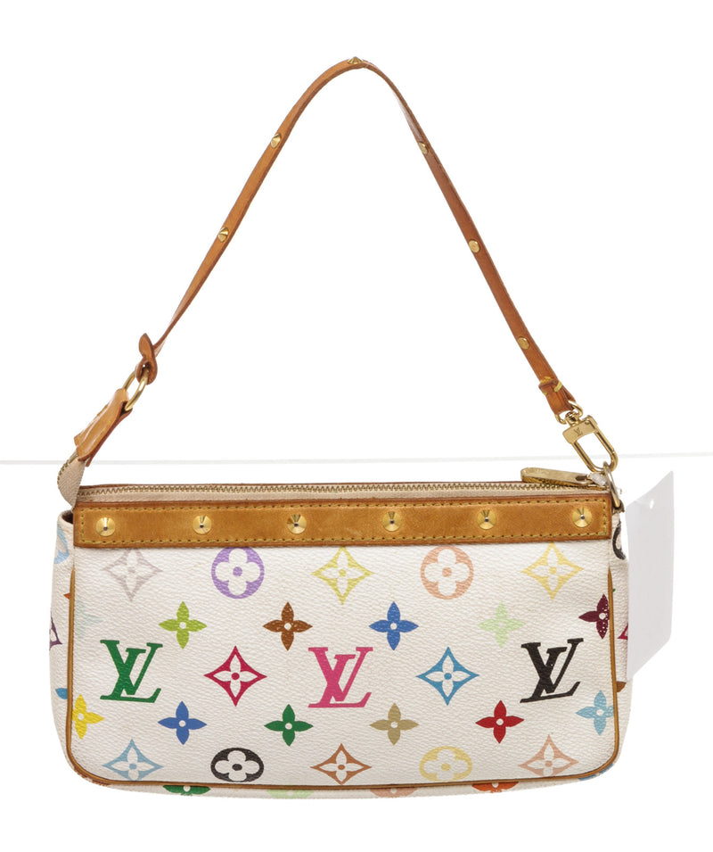 Louis Vuitton Multi Colored White Pochette