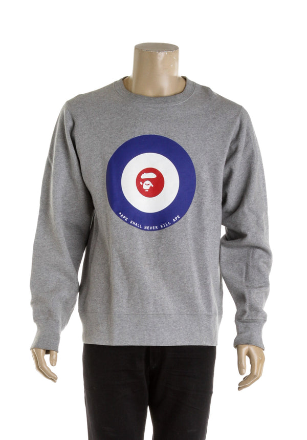 Grey Bape Mens Crewneck