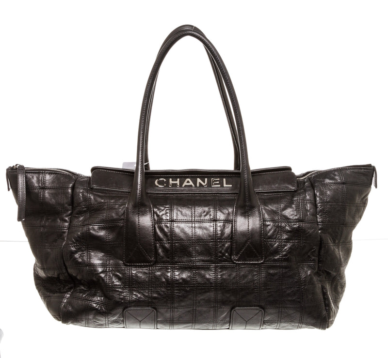 Chanel Black Zip Top Tote