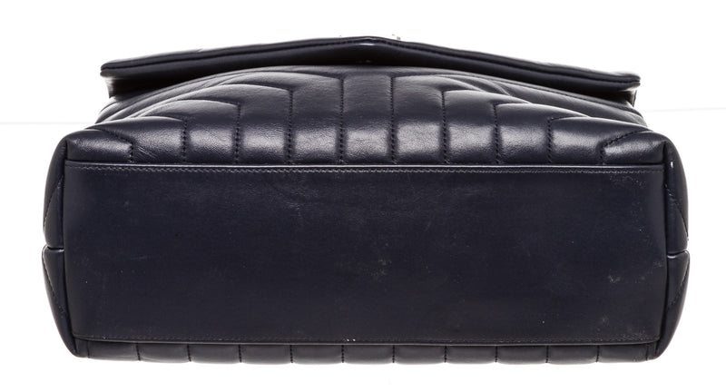 Saint Laurent Lou Lou Matelasse Navy Medium Shoulder Bag