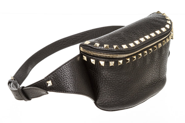 Valentino Rockstud Black Belt Bag