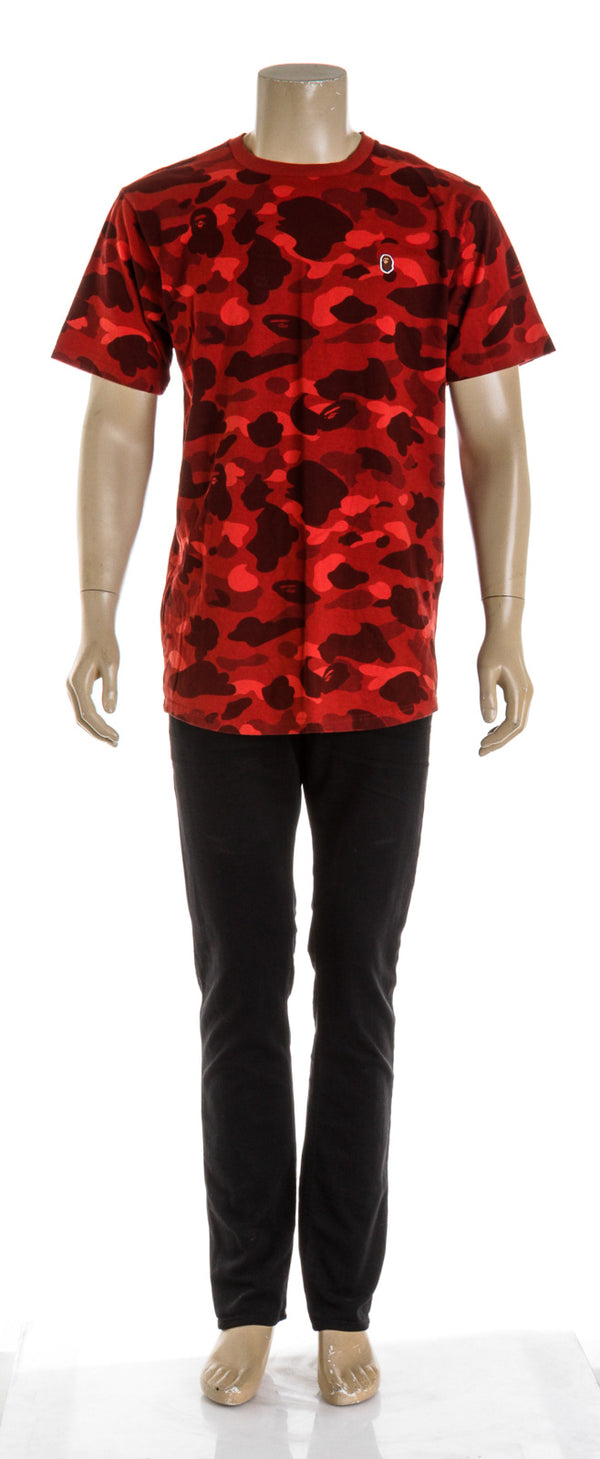 Bape Red Camo T Shirt Mens (Size XXL)