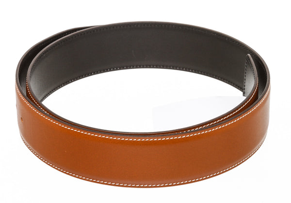 Hermes Reversible Belt in Black and Brown