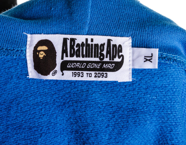 Bape Blue Men's Zip up (Size XL)