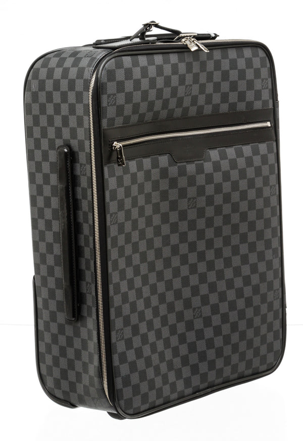 Louis Vuitton Black and Gray Damier Graphite Pegase 55 Luggage