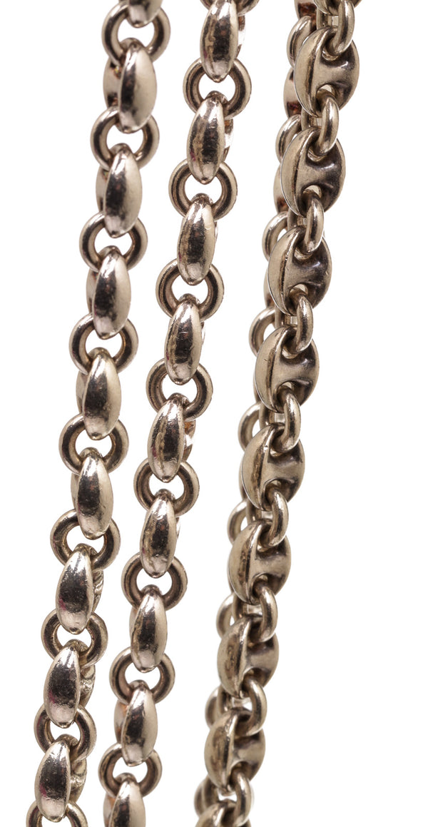 Hermes Silver Chain D'Ancre Necklace