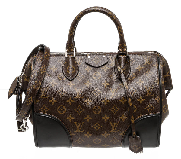 Louis Vuitton Brown Monogram Shine Doc PM Bag