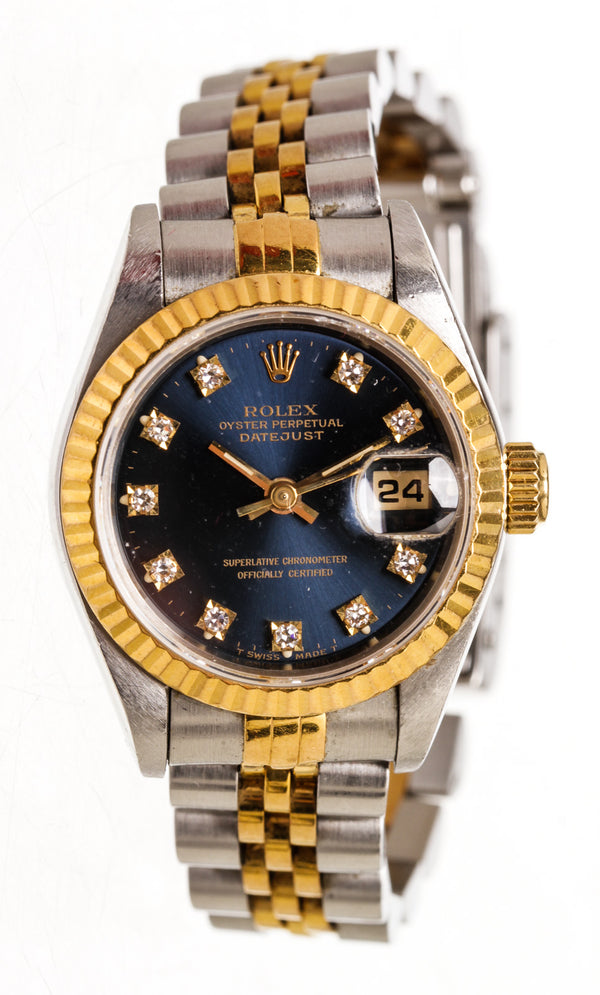 Ladies Rolex Two Tone Datejust with Original Diamond Markers 61973