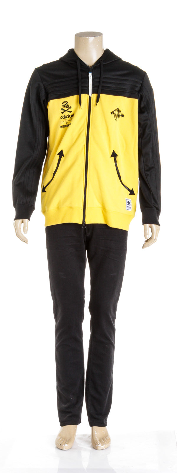 Adidas X Neighborhood Yellow Men's Zip Up (Size L)