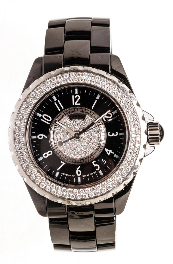 Chanel J12 Diamond Bezel Ladies Watch