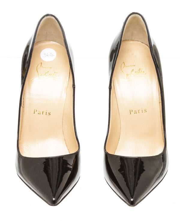 Christian Louboutin Black Patent So Kate 120 Pumps Size 36.5