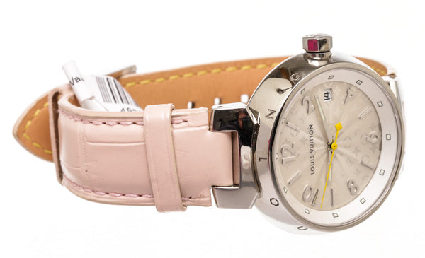 Ladies Louis Vuitton Pink Tambour Watch