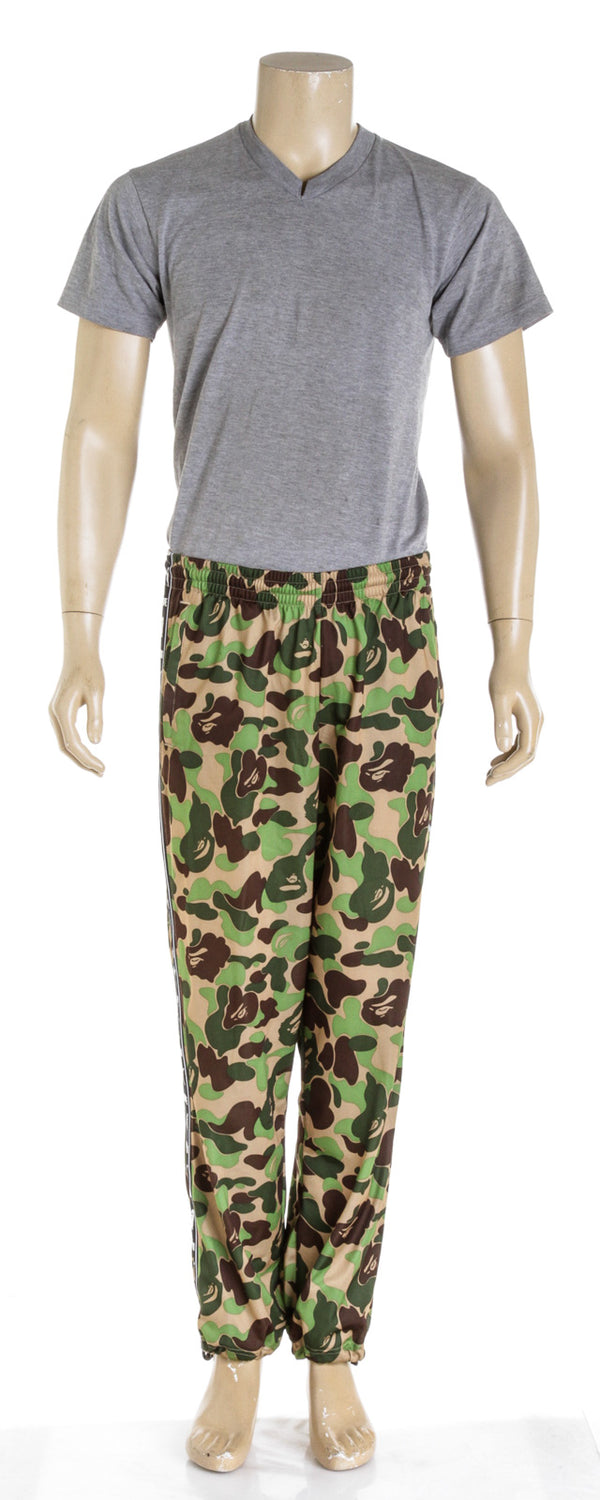 Bape X Puma Green Camo Mens Sweatpants (SIZE L)